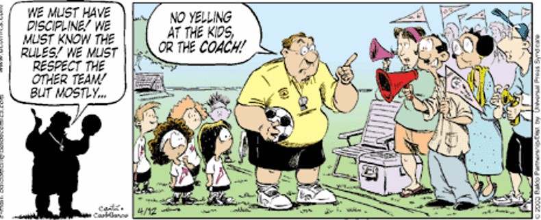 """Imagine the sign… """"Coaching from the sidelines. Not allowed."""""""
